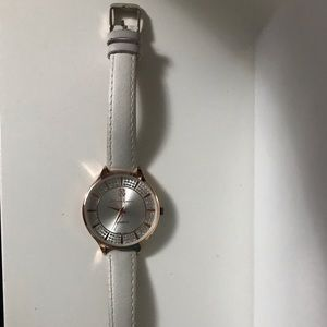 Christian Lacroix rose gold watch/white wristband